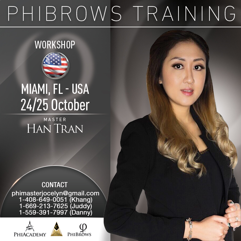 phibrows microblading miami fl usa october 24 25 2018 usa